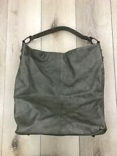 Marzia Large Green Two-Tone Oversized Tote Bag Italian Soft Leather