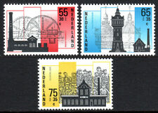 Netherlands B626-B628, MNH.Industries.Steam pumping station,Water tower, 1987