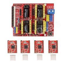 CNC Kit 1X Shield + 4X A4988 Drivers for Arduino UNO R3 ATmega328P CH340G