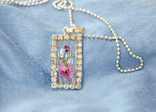 HAND MADE JEWELLERY,REAL FLOWERS  PENDANT-(RECTANGLE)