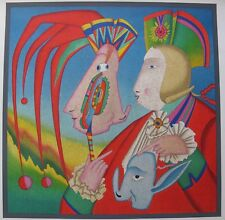 MIHAIL CHEMIAKIN CARNIVAL MASK ST PETERSBURG 1995 Large Unsigned Lithograph Art