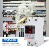 SVP-916 Adjustable Voltage Surge Protector Relay Limit Current Protection
