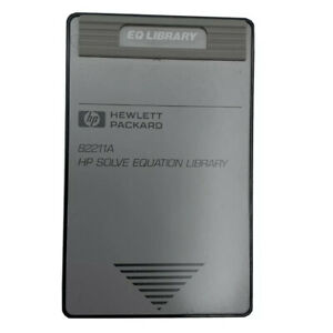 Hewlett Packard 82211A HP Solve Equation Library for HP48SX