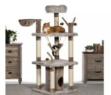 New Siberian Mountain Plush Cat Furniture Tree - 5ft Tall