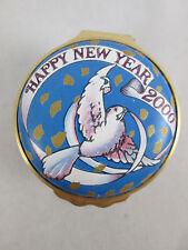 Halcyon Days Tiffany & Co Happy New Year 2000 Porcelain Enamel Trinket Pill Box
