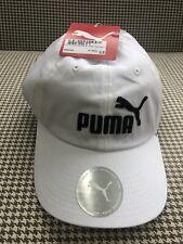 Puma  BB Tennis Golf Baseball Cap, White/Black - Brand New With Tags