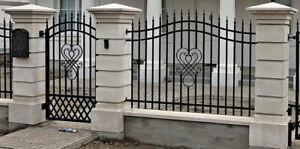 Torpfosten Gartenpfosten Betonpfosten Pilaster Eingangspfosten Betonsäule Zaun