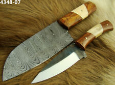 Alistar Set of 2 Handmade Damascus & Carbon Steel, Kitchen/Chef's Knives (4348-7