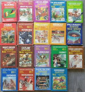 Atari 2600 Games Boxed Amazing Lot x19 🎮 Most CIB Box & Manuals 1981