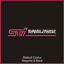 Subaru Tecnica International  Decals x2, Vinyl,Sticker, Graphics,Car, N2086