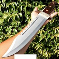 """Fixed Blade 16.5"""" RAMBO BOWIE MACHETE TACTICAL SURVIVAL HUNTING BLACK HANDLE"""