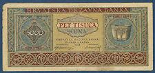 CROATIE - 5000 KUNA Pick n° 13. du 1-9-1943. en TB   F0857141
