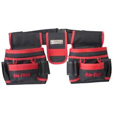 20 bolsillos cinturón de herramientas doble bolsa bucles de cinta métrica Martillo de uñas fuertes Polyster
