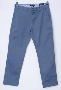 NWT TOMMY HILFIGER Flex Blue Twill Cotton Custom Fit Dress Pants 32 x 32 (EU 48)