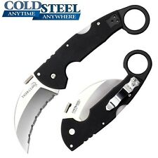 Cold Steel - Tiger Claw Karambit Folding Knife Serrated CTS® XHP Alloy 22KFS New