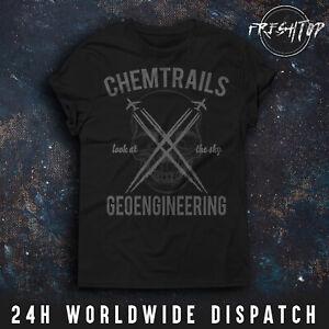 Chemtrails T Shirt Sky Geoengineering Conspiracy Theory Illuminati NWO Goverment