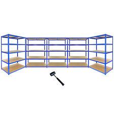 5 Bay Garage Shelving / Shed Utility Racking 5 Tier 120cm wide x 60cm Deep TRAX