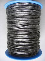 Grey Dyneema Rope. 1mm 2mm 3mm 4mm. Various Lengths.