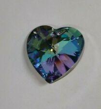 Swarovski Crystal Vitrail Light 28mm Heart 6228 Pendant; Limited Production RARE