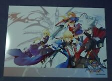 BLAZBLUE CENTRALFICTION BBCF Plastic Poster Exclusive Super Rare NEW!