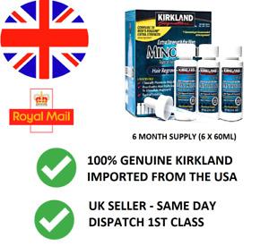 KIRKLAND SIGNATURE MINOXIDI L5% LIQUID HAIR REGROWTH- 6 MONTH SUPPLY- SEALED BOX