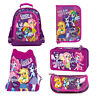 Equestria Girls My Little Pony Backpack FILLED Double Pencil Case Shoe Bag Pouch