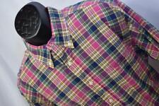 28823 Mens Brooks Brothers 346 Long Sleeve Classic Plaid Dress Shirt Size XL