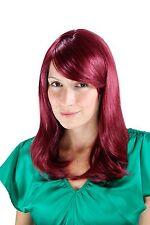 Perücke Rot-lila glatt Seitenscheitel Wig 3120-39 50cm