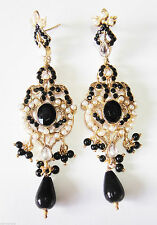 Crystal Silver Asian Earrings
