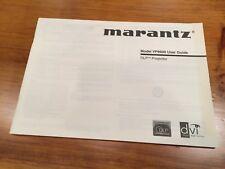 Marantz Vp8600 Dlp Projector Owners Manual - Fantastic Condition