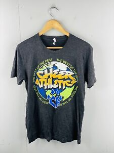 Canvas Men's Vintage Short Sleeve Crew Neck T Shirt Size M Grey Cheer Athletics