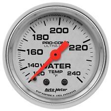 Autometer Ultra-Lite Mechanical Water Temp Gauge 2 1/16 Dia Silver Face 4332