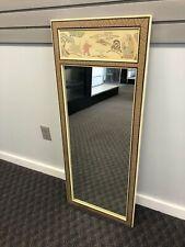 Vintage Wall Mirror DREXEL HERITAGE Asian Motif beige white dresser art hanging