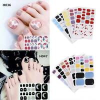 Toe Nail Stickers Decal Summer Polish Manicure Nail Art Foot Tip Decors Fashion