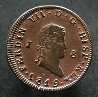 8 MARAVEDIS 1819 ESPAGNE / SPAIN - Ferdinand VII