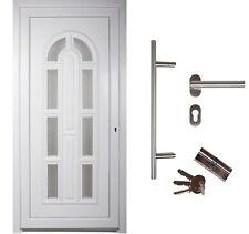 kuporta Kunststoff Haustür England weiß Nebeneingangstür Kellertür Außentür Tür