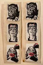 Vintage Monster Unused Vending Charm & Wallet Stickers Frankenstein Creature