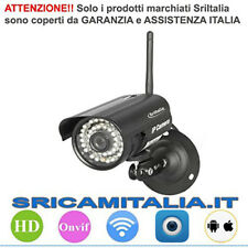 Ip camera wifi Wireless Onvif Esterna P2P Nera-Alluminio Sp013 Sricam Italia