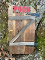 Disney Winnie The Pooh Home door.  Hand Crafted, 100 Acre wood in your back yard