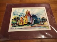 Leslie's Mission San Jose Signed print ready for a 8X10 frame