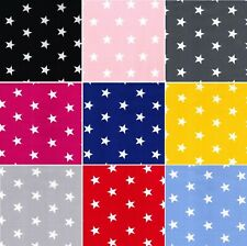 100% Cotton Poplin Large Stars Craft Dress Fabric Material All Colour 112cm wide