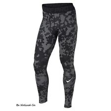 Nike Pro Hyperwarm Ambush Compression Camo Men`s Tights M Black Gray Gyn New