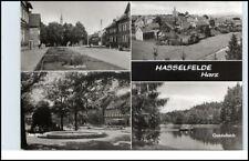 HASSELFELDE Oberharz DDR Postkarte 4-fach Mehrbild-AK