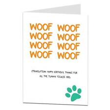 Funny Happy Birthday Card From The Dog Lover Pet Theme Him Her