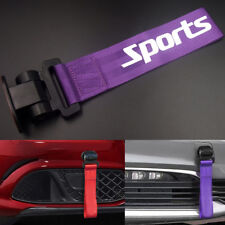 Purple Universal Car Bumper Sports Style Racing Tow Hook Strap Auto Decoration