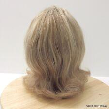 Moklox Wig 100% Human Hair Blonde Warm Brown Glue-less Hand Tied