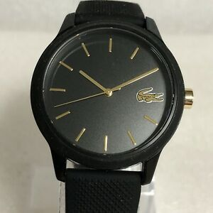 Lacoste Ladies Black Silicone Strap Watch.
