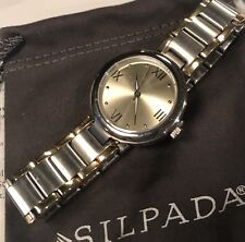 SILPADA T3202 Silver&Gold Stainless Steel Watch Time 2 Celebrate New Was $179