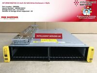 HP 3PAR M6710 2.5 inch 2U SAS Drive Enclosure + Rails - QR490A / QR490-63012