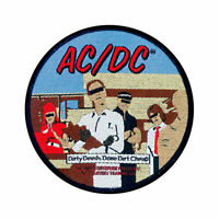 AC/DC Dirty Deeds Woven Sew On Patch Official Licensed Band Merch